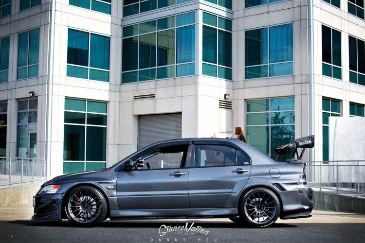 Mitsubishi Evo-9 cars sedan modified wallpaper
