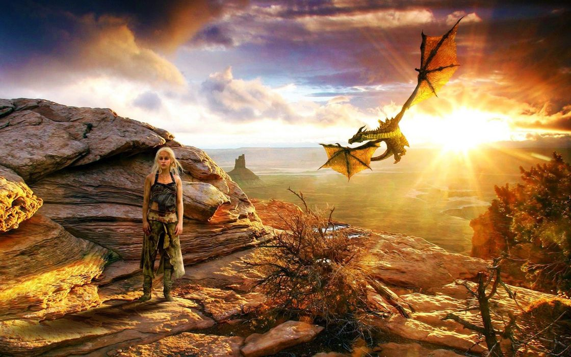 GAME OF THRONES adventure drama hbo fantasy series adventure dragon wallpaper
