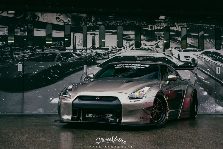 NISSAN GTR liberty walk cars coupe modified wallpaper