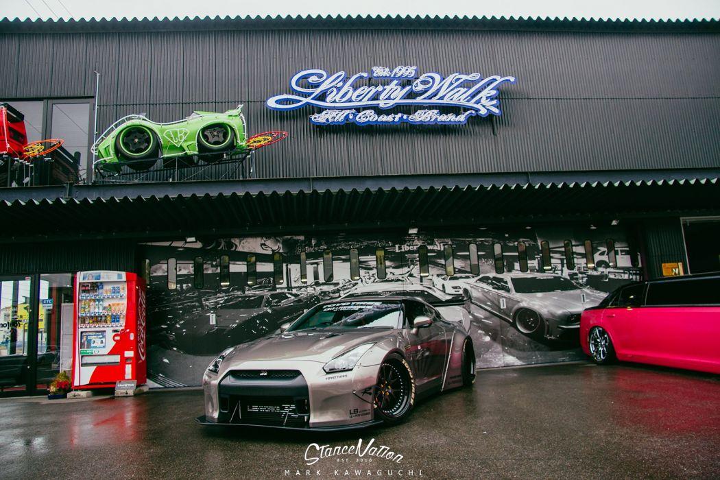NISSAN GTR liberty walk cars coupe modified wallpaper