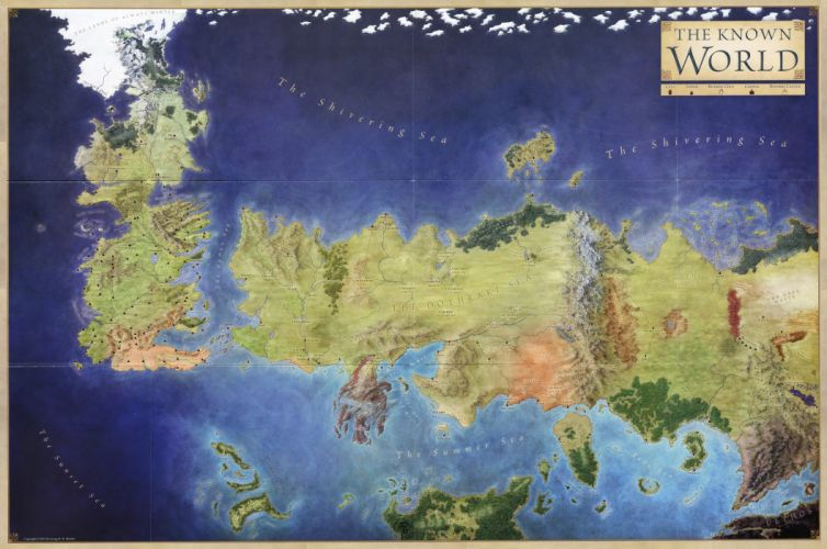 GAME OF THRONES adventure drama hbo fantasy series adventure poster map wallpaper