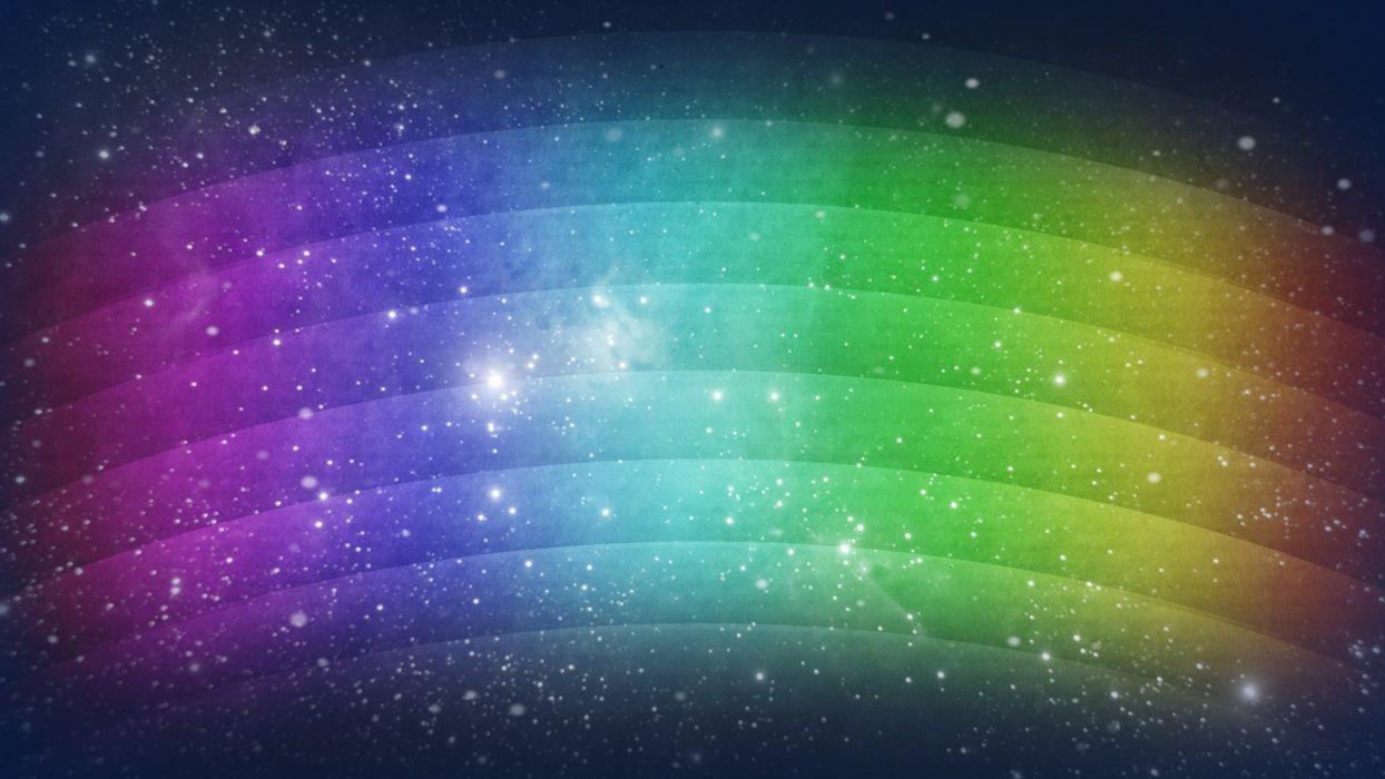 Rainbow Blur wallpaper