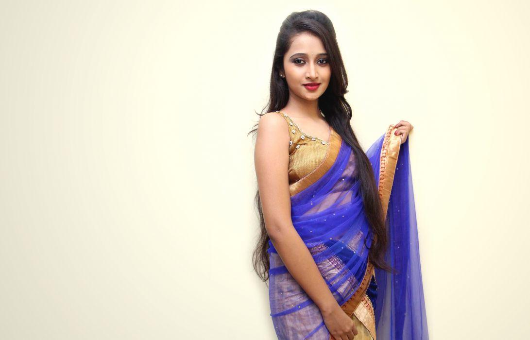 Soumya bollywood actress model girl beautiful brunette pretty cute beauty sexy hot pose face eyes hair lips smile figure indian saree sari wallpaper