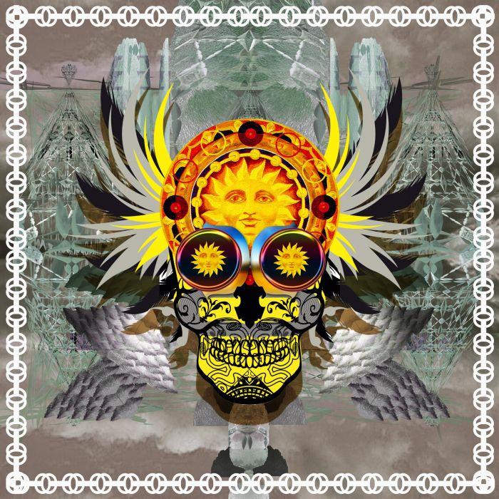 Winged skull wallpaper