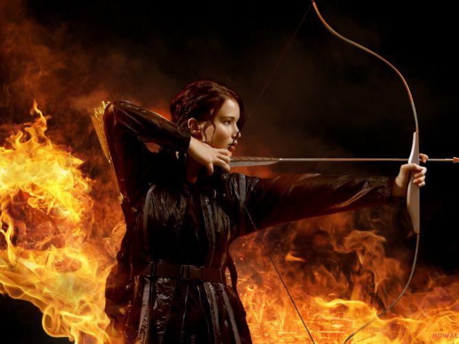 HUNGER GAMES fantasy adventure sci-fi drama action warrior archer wallpaper