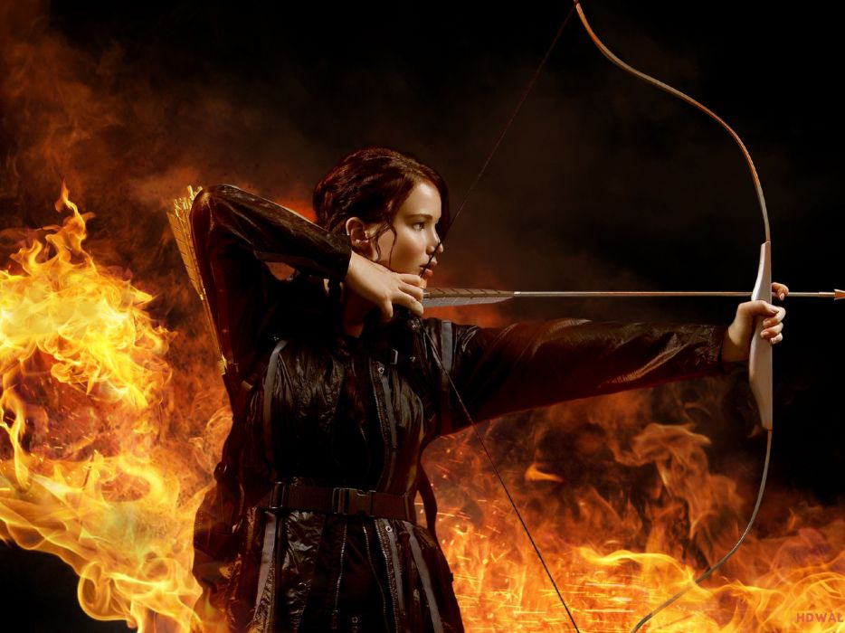 HUNGER GAMES fantasy adventure sci-fi drama action warrior archer wallpaper