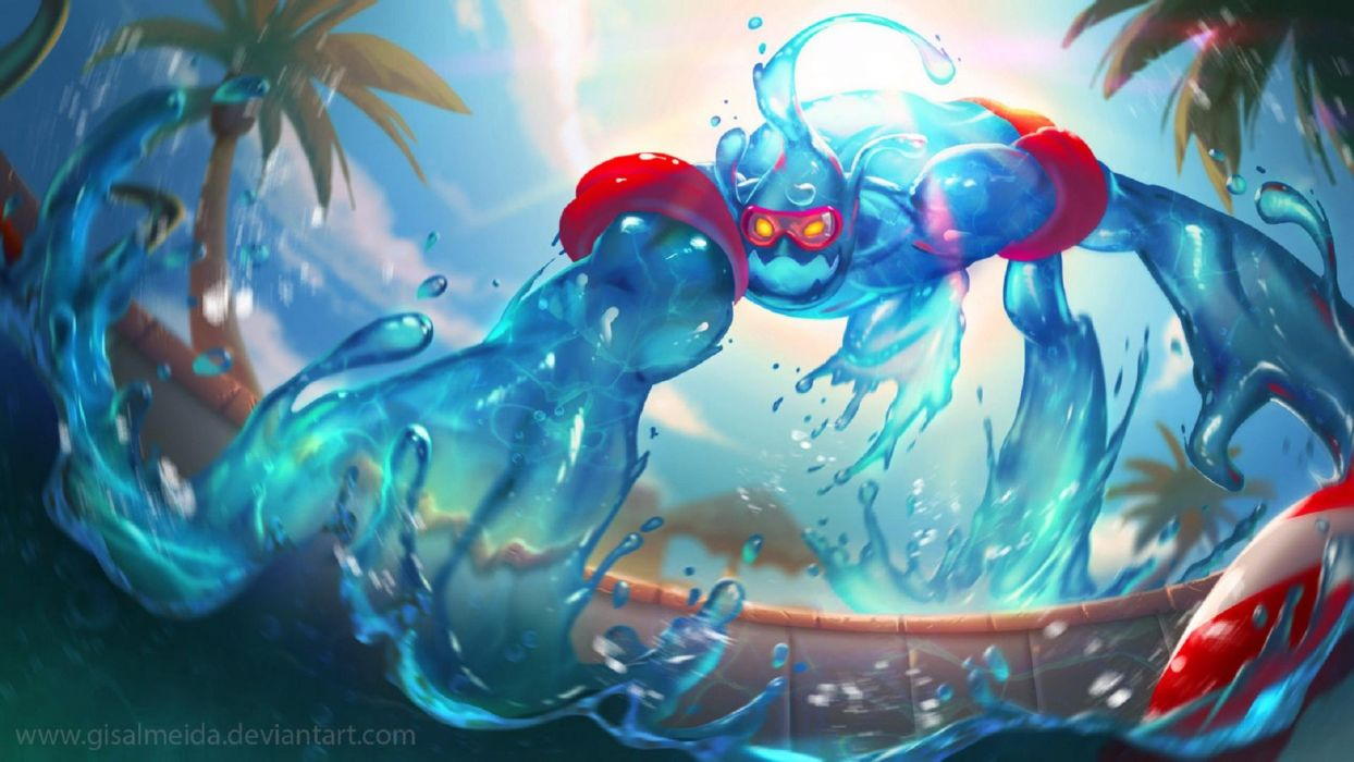 Zac Pool Party by Gisalmeida - League Of Legends wallpaper