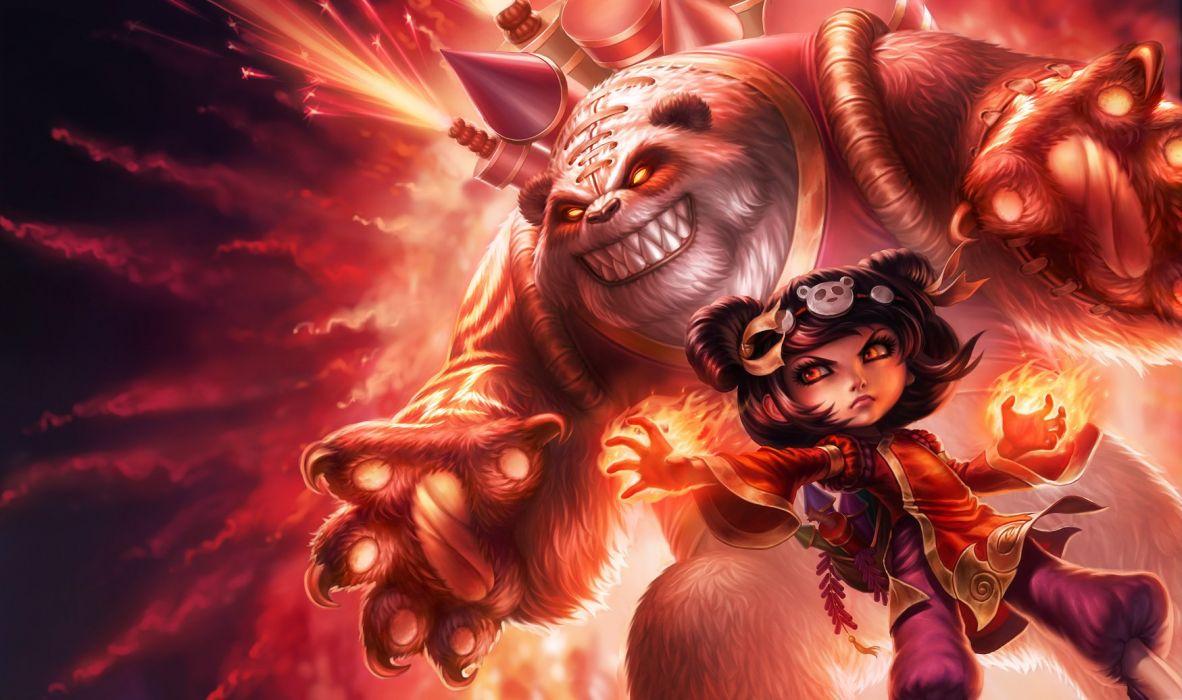 Panda Annie Splash Art - League Of Legends wallpaper