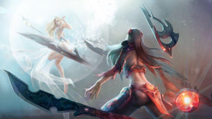 Irelia Vs Janna - League Of Legends wallpaper