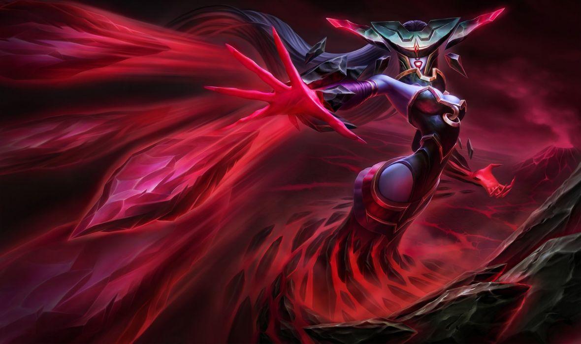 Bloodstone Lissandra Splash Art - League Of Legends wallpaper