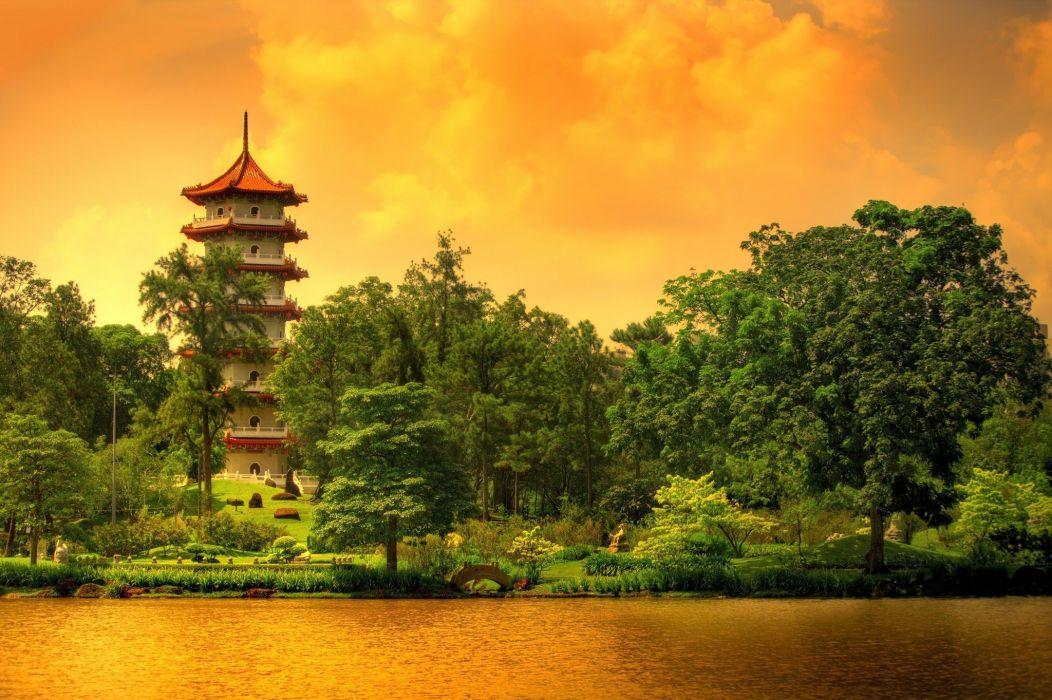 paisaje naturaleza asiatico pagoda wallpaper
