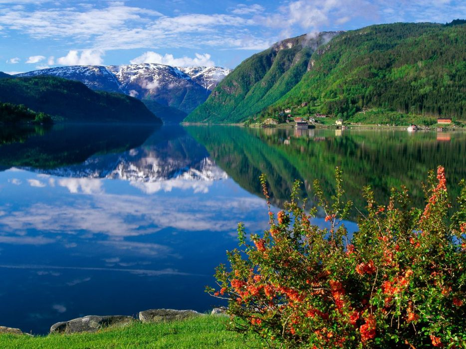 hordanlang noruega paisaje fiordo naturaleza wallpaper