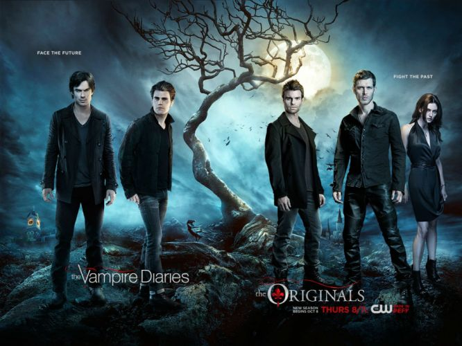 VAMPIRE DIARIES drama fantasy drama horror series romance poster originals wallpaper