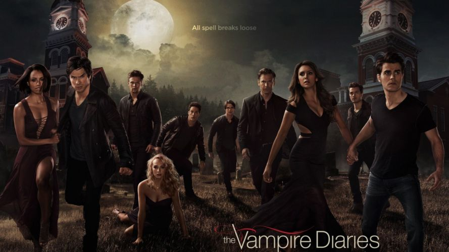 VAMPIRE DIARIES drama fantasy drama horror series romance poster wallpaper