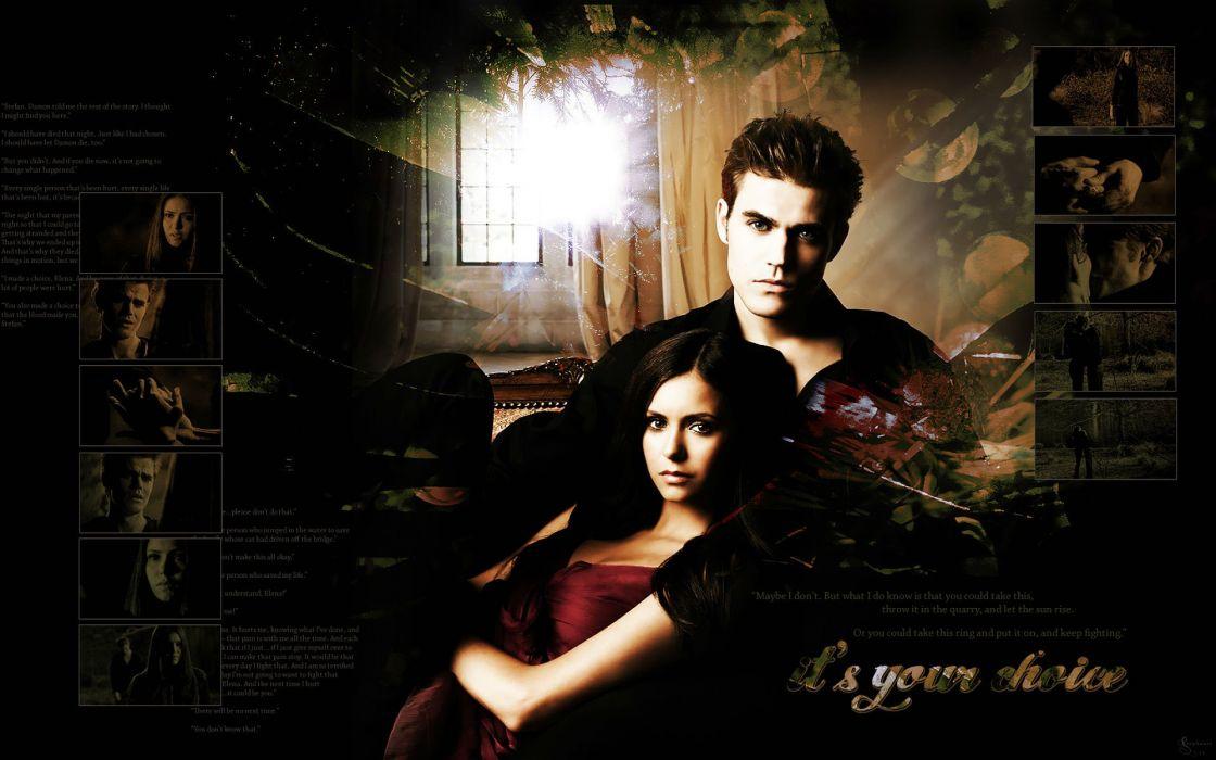VAMPIRE DIARIES drama fantasy drama horror series romance poster wallpaper