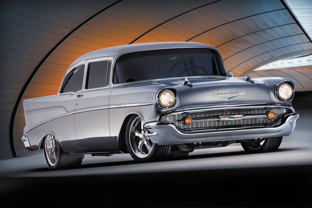 1957 Chevrolet Bel Air hot rod rods retro custom belair wallpaper