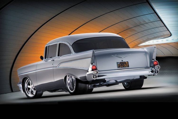 1957 Chevrolet Bel Air hot rod rods retro custom belair wallpaper