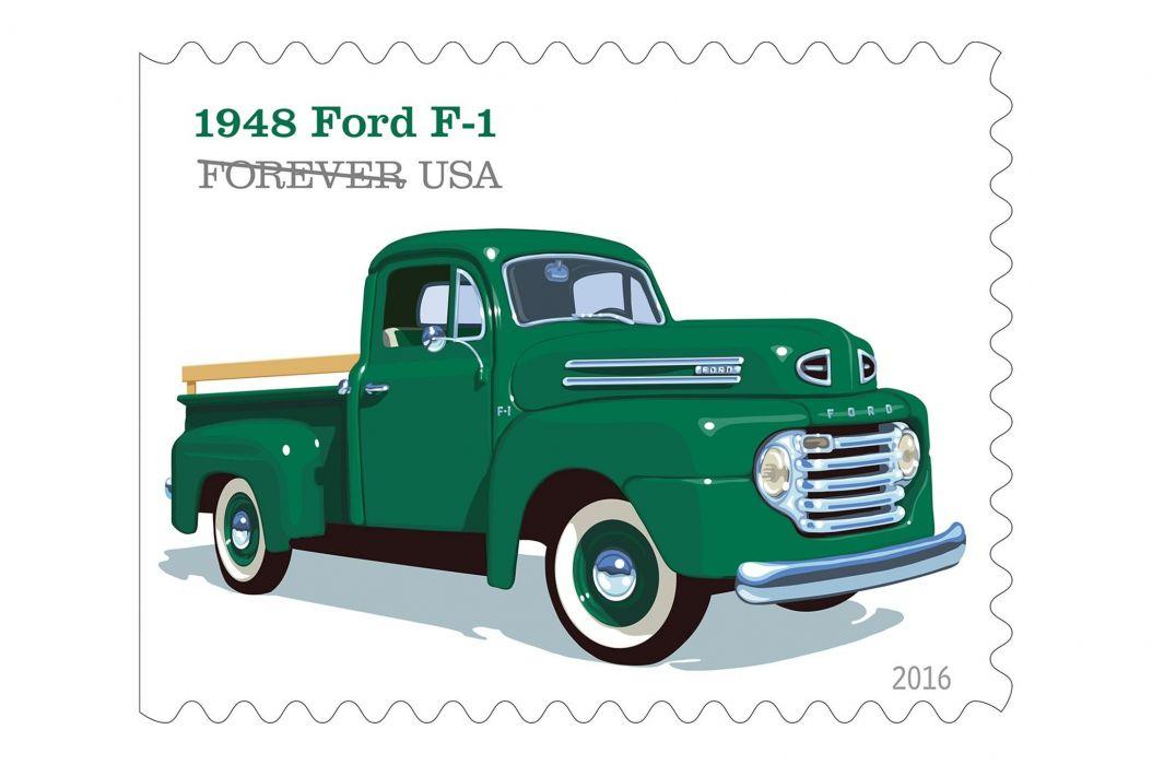 Ford pickup classic retro poster artwork art stamp wallpaper