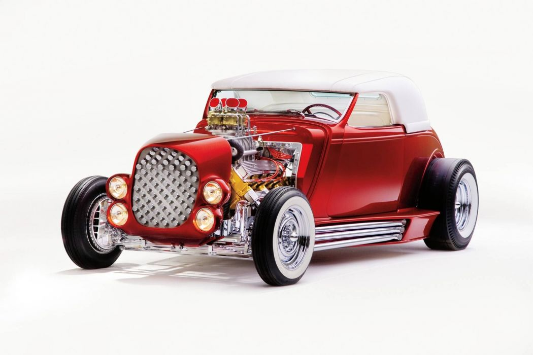 1932 Ford DeLuxe coupe hot rod rods custom vintage retro concept wallpaper