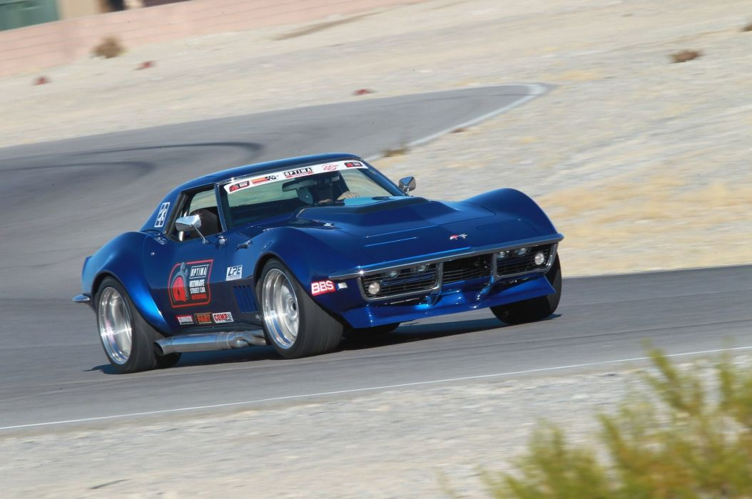 Chevrolet Corvette hot rod rods muscle race racing classic wallpaper