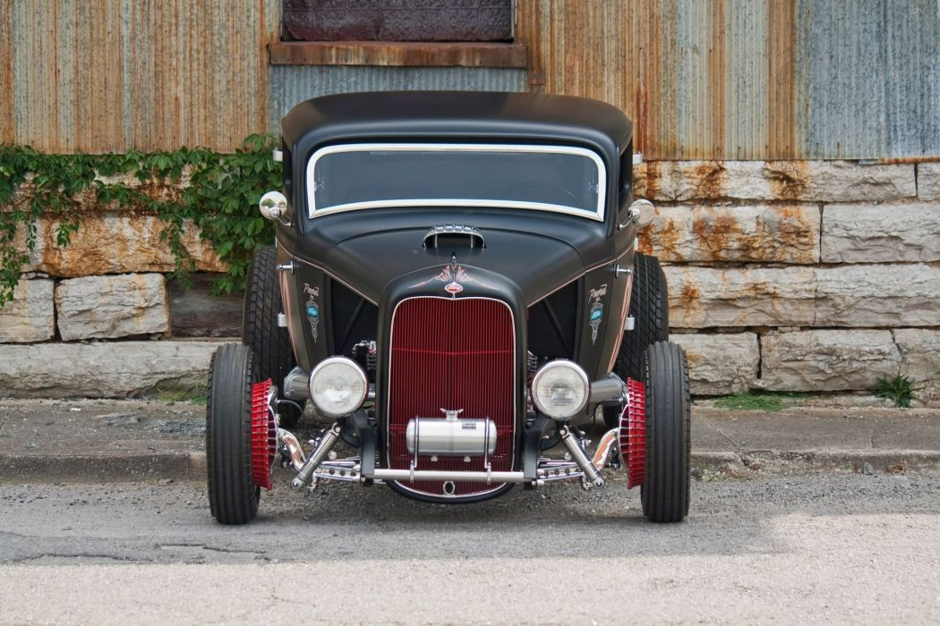 1932 Ford Coupe hot rod rods custom retro vintage race racing wallpaper