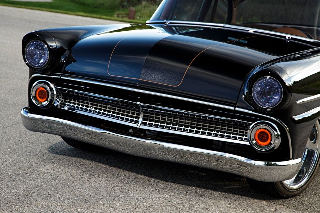 1955 Ford Customline sedan hot rod rods custom retro wallpaper