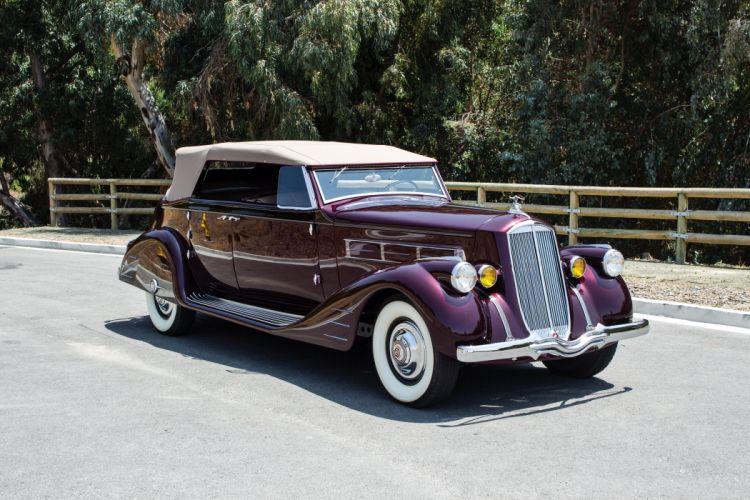 1938 Pierce Arrow Twelve Convertible Phaeton Bohman Schwartz vintage luxury wallpaper