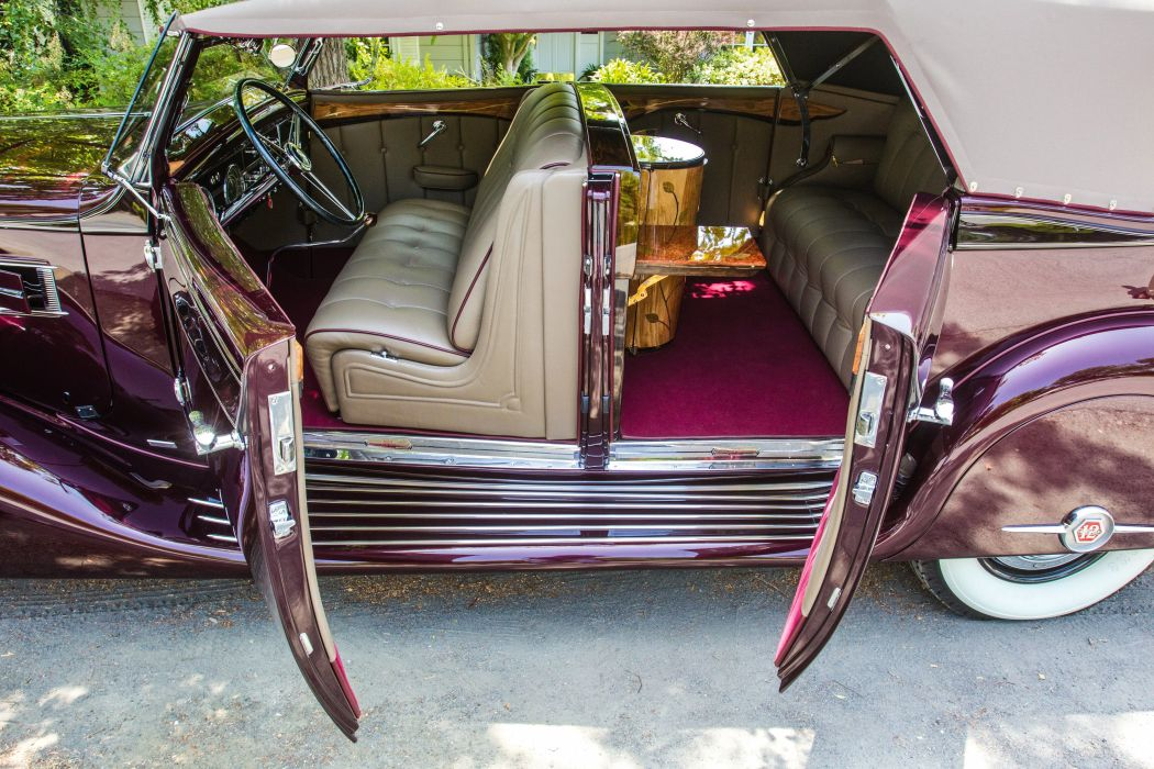 1938 Pierce Arrow Twelve Convertible Phaeton Bohman Schwartz vintage luxury wallpaper