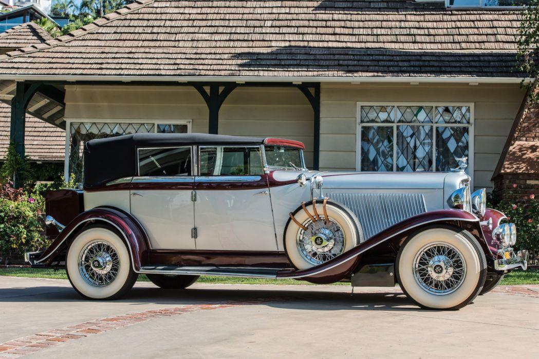 1932 Auburn V12 160A Custom Dual Ratio Phaeton Sedan luxury vintage wallpaper