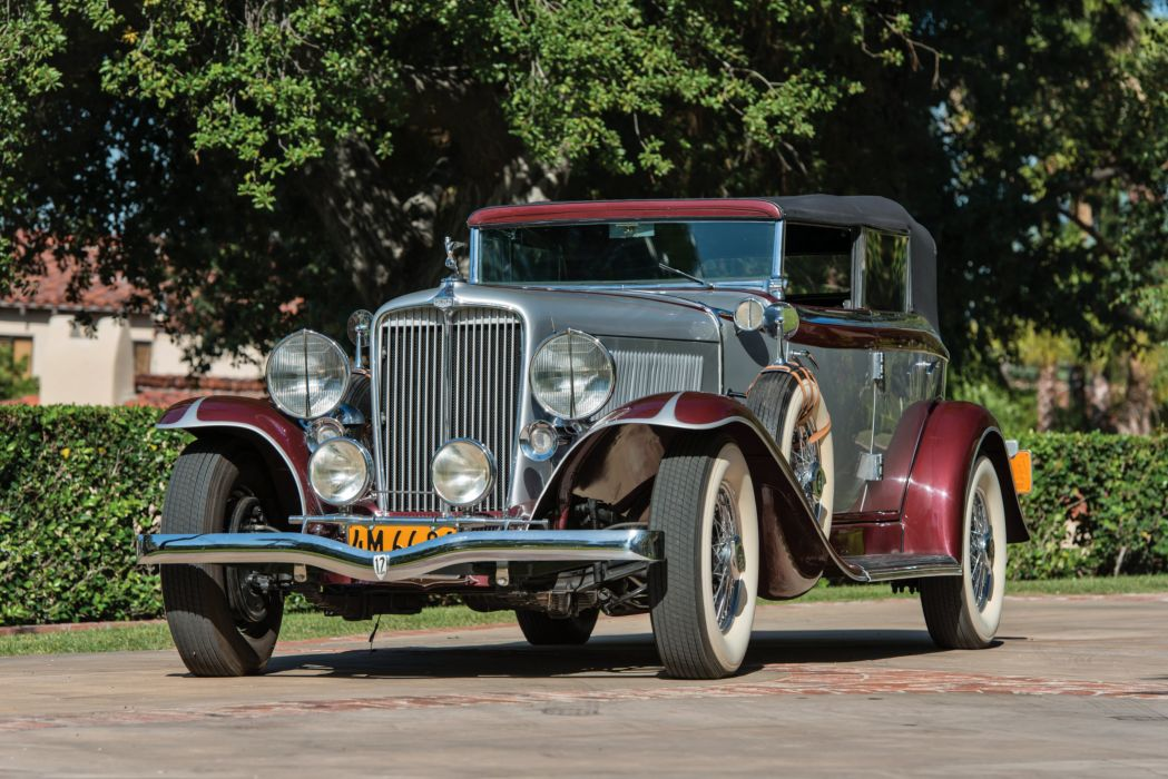 1932 Auburn V12 160A Custom Dual Ratio Phaeton Sedan luxury vintage wallpaper