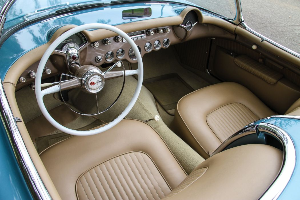 1954 Chevrolet Corvette Pennant-Blue 2934 muscle retro supercar wallpaper