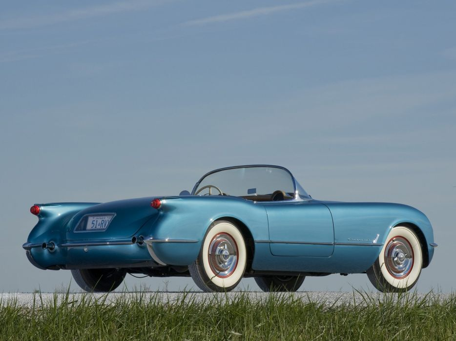 1954 Chevrolet Corvette Pennant-Blue 2934 muscle retro supercar wallpaper