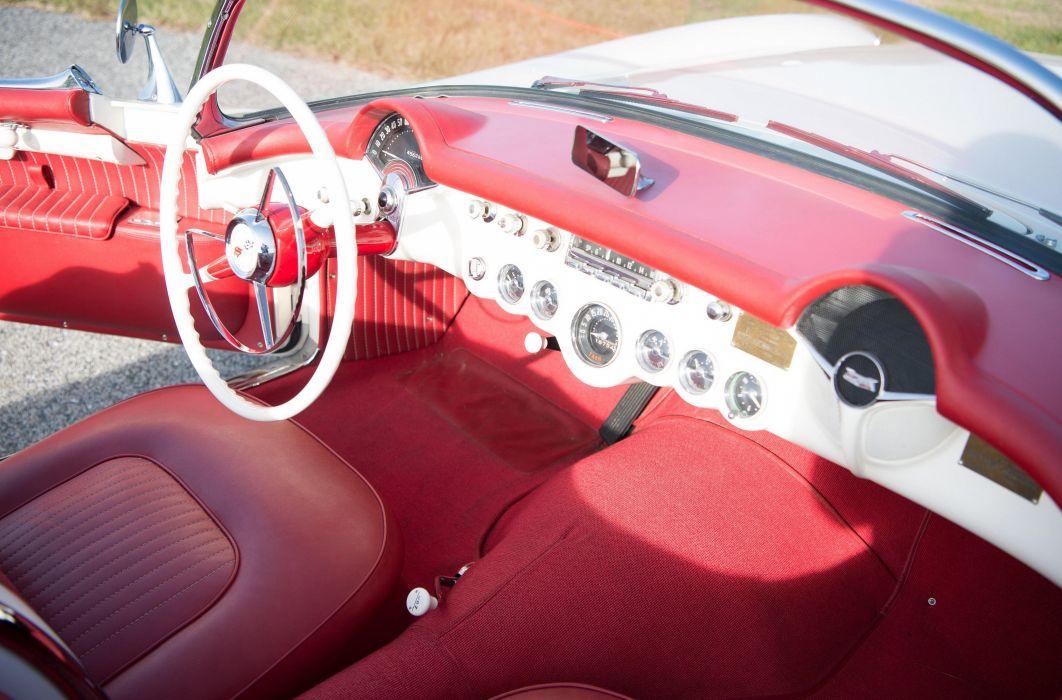 1954 Chevrolet Corvette Polo-White 2934 muscle supercar retro wallpaper
