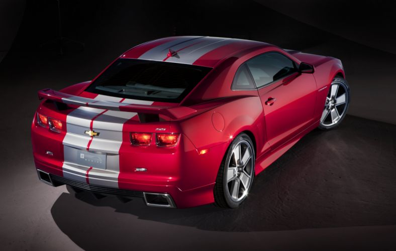 2010 Chevrolet Camaro S-S Red Flash muscle tuning wallpaper