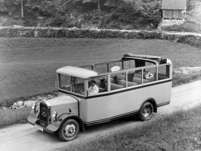 1932-34 Mercedes Benz Lo2000 Ausflugs Omnibus L60 semi tractor bus transport vintage wallpaper