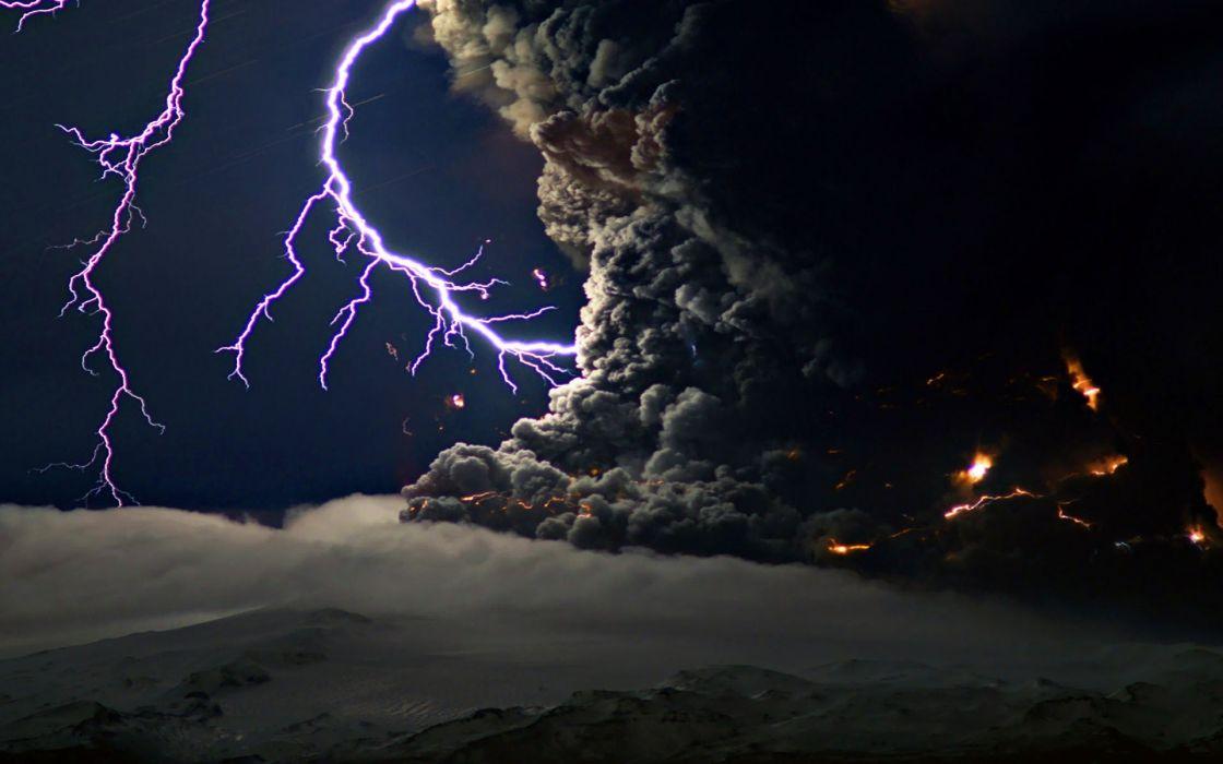 rayos nubes tornado naturaleza wallpaper