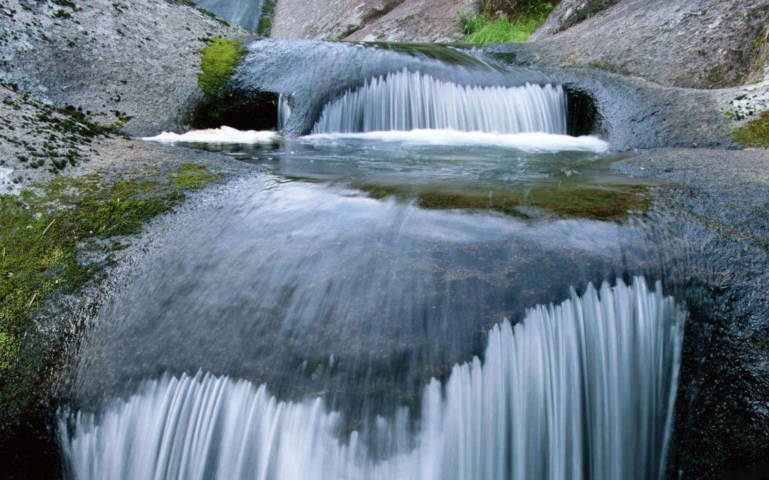 cascada naturaleza aguas rio bosque wallpaper