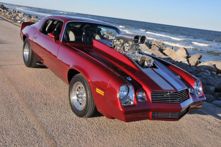 1980 Chevrolet Camaro hot rod rods muscle custom classic wallpaper