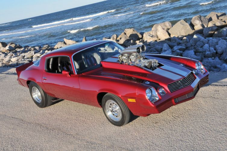 1980 Chevrolet Camaro hot rod rods muscle custom classic wallpaper