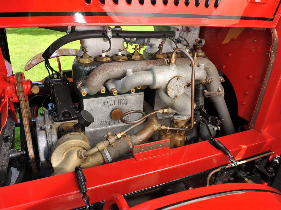 1922 Tilling Stevens TS3A Petrol Electric Open top Double Deck Bus transport semi tractor vintage wallpaper