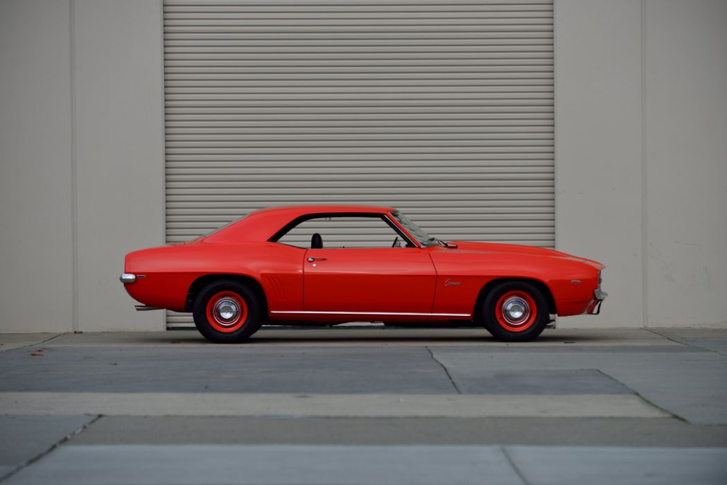 1969 Chevrolet Camaro ZL-1 COPO 'Hugger Orange muscle classic wallpaper