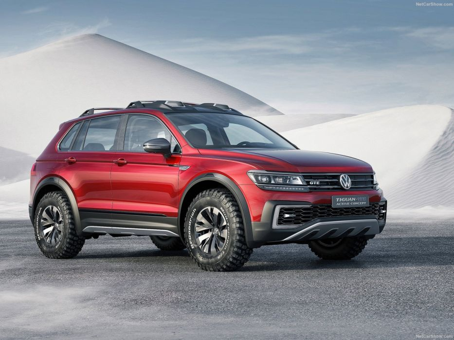 Volkswagen Tiguan GTE Active Concept cars electric 2016 wallpaper