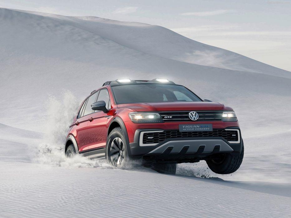 Volkswagen Tiguan GTE Active Concept cars electric 2016 wallpaper