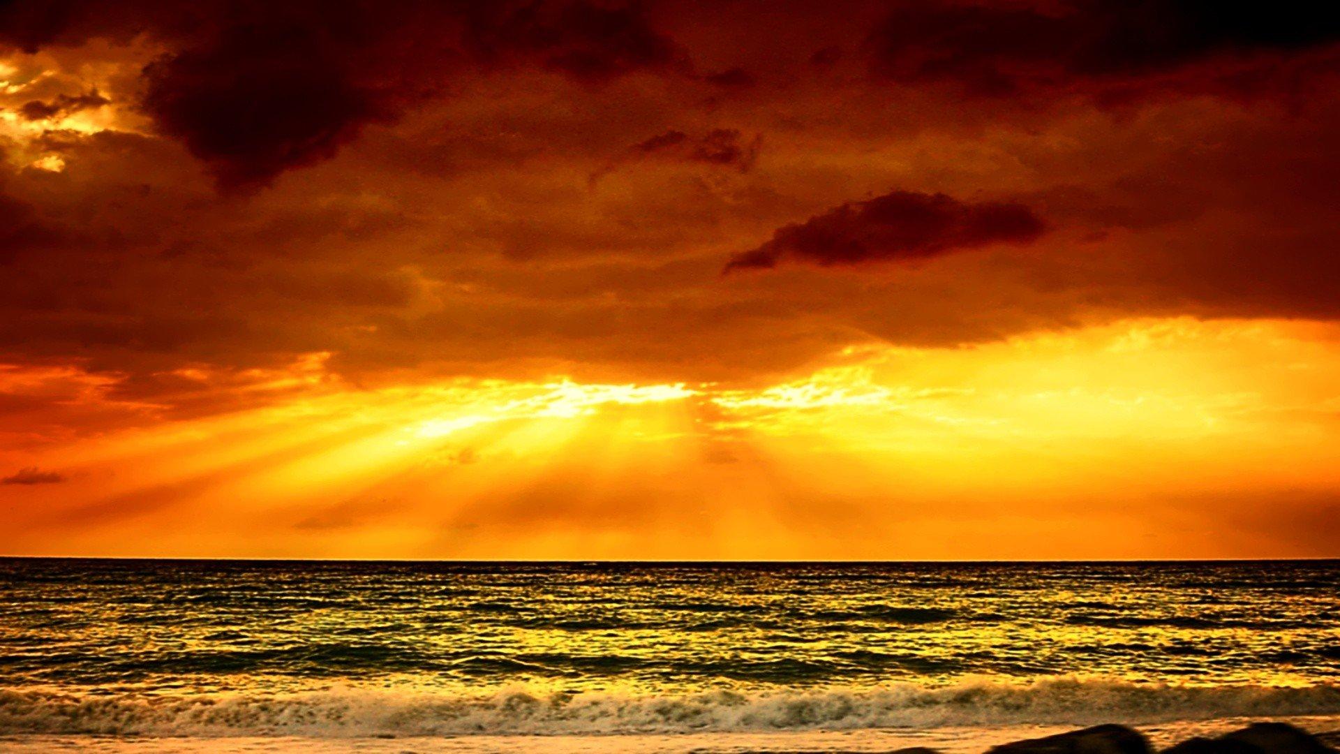Amanecer Mar Nube Cielo Naturaleza Wallpaper