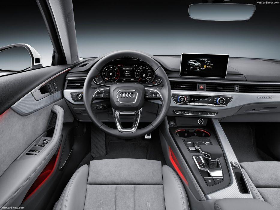 Audi A4 allroad quattro wagon cars 2016 interior wallpaper