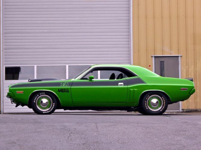 1971 Dodge Challenger T-A mopar muscle classic wallpaper