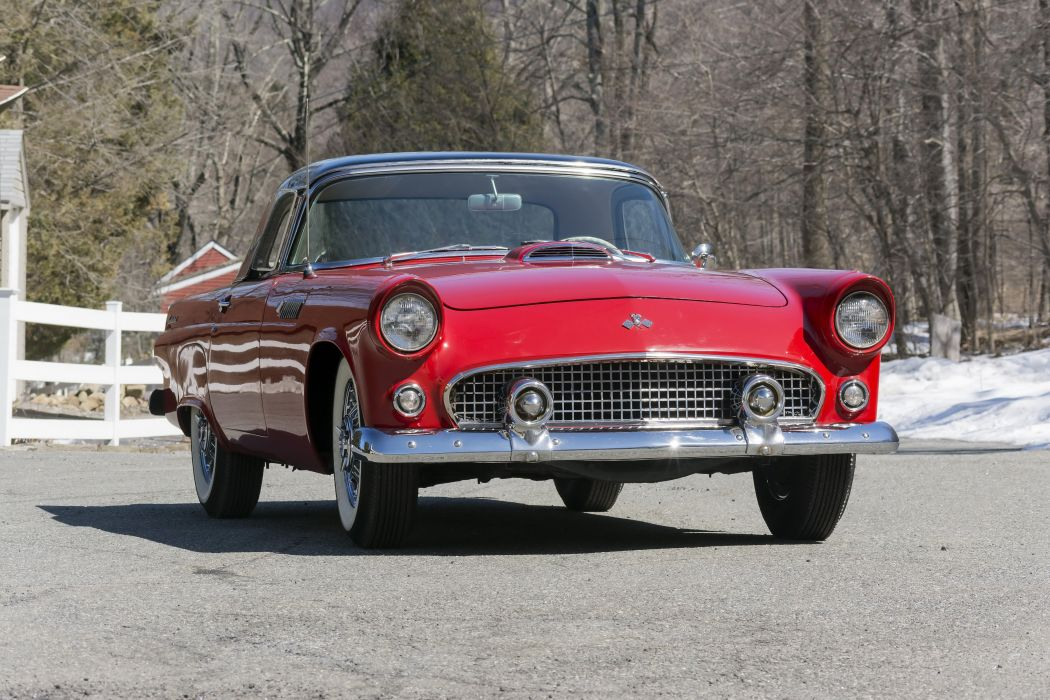 1955 Ford Thunderbird P5-40 luxury retro wallpaper