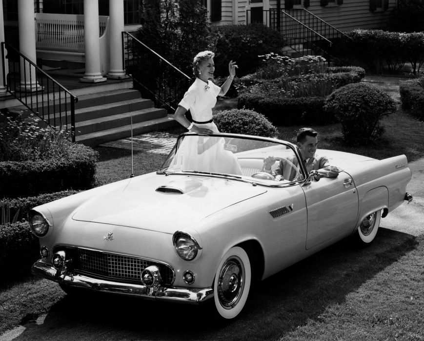 1955 Ford Thunderbird P5-40 luxury retro wallpaper