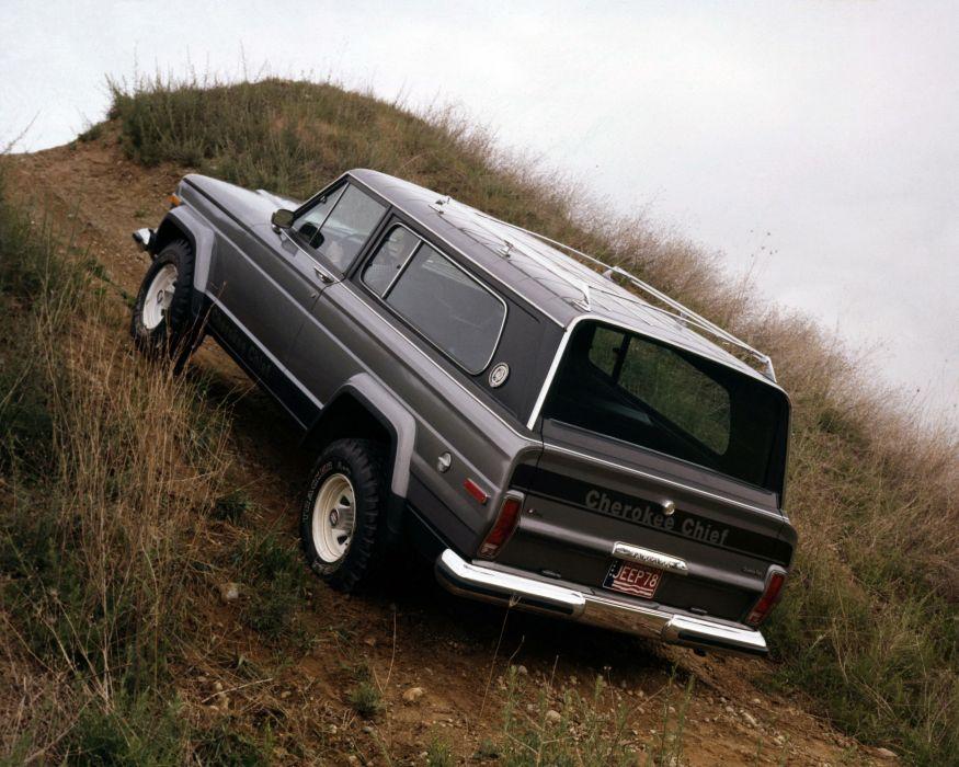 1976aei78 Jeep Cherokee Chief S-J suv stationwagon 4x4 wallpaper
