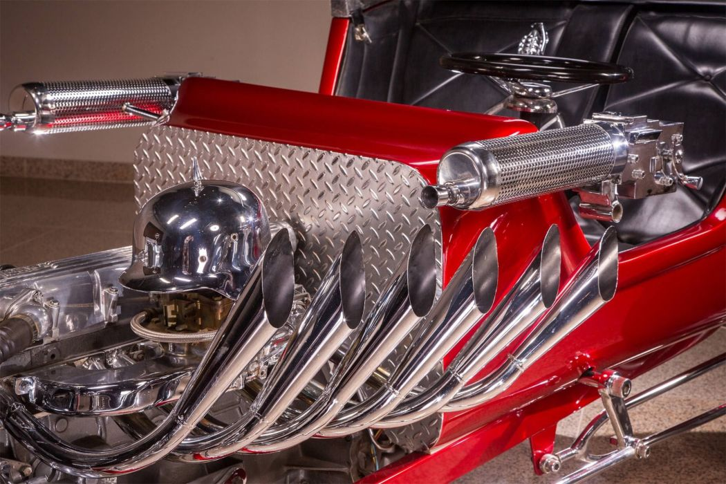 Red Baron Hot Rod rods custom vintage concept wallpaper